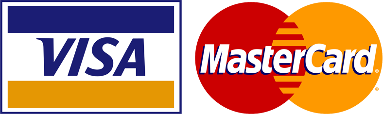 We accept Visa and Master Card
